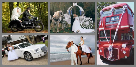 Quel moyen de locomotion pour votre mariage ?