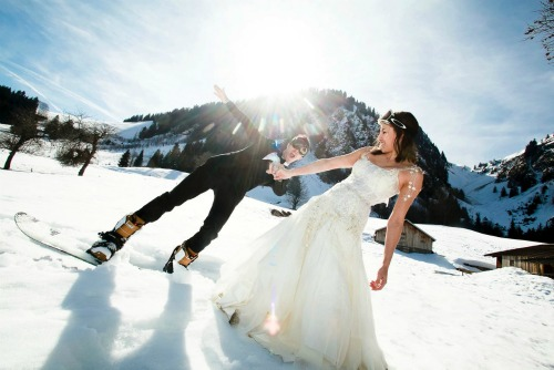 animation mariage hiver