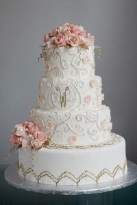 romantic-wedding-cakes-a-white-cake-Garden-nouveau