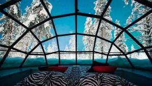 igloo de verre intérieur