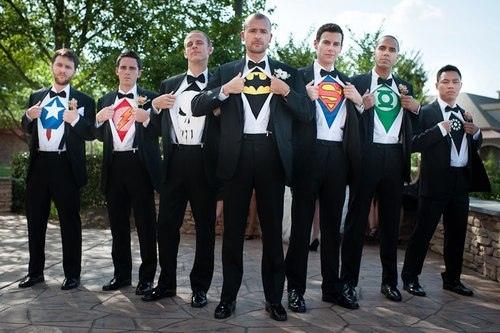 mariage en mode super héros homme