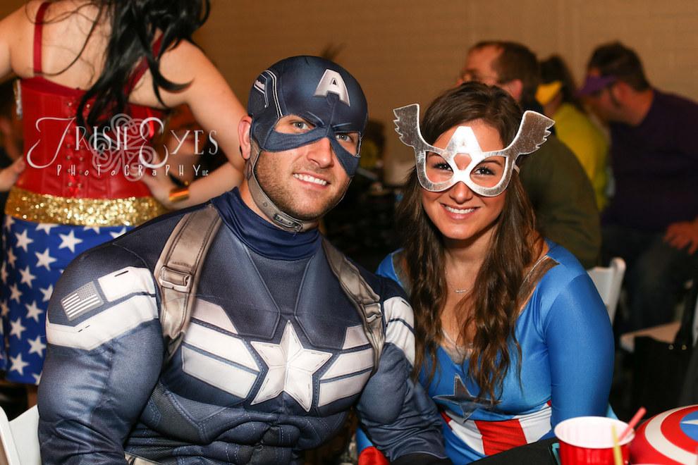 robe de mariée en mode super heros captain