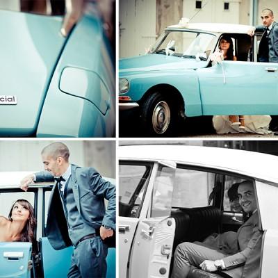 Une voiture de mariage de rêve